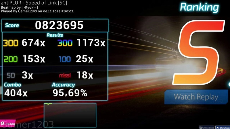 Osu! Mania 4K l DUMP TRAINING l antiPLUR - Speed of Link[SC]