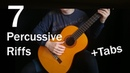 Топ 7 Рок Песен На Гитаре Бонус | Фингерстайл Рифы | Percussive Fingerstyle Riffs (Rock) Табы