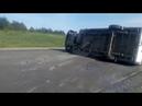 Столкновение автобуса с большегрузом на трассе