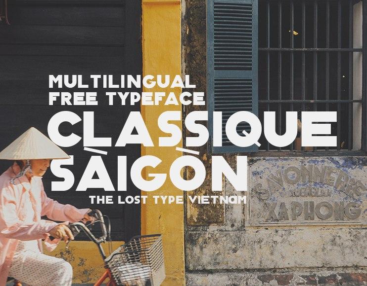 Download Classique Saigon font (typeface)