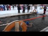 заплыв Дмитрия Балабанова из Иваново на 1475 м в проруби в Тюмени 15 12 2013