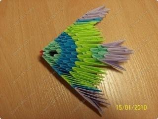 Модульное оригами для начинающих  Простая рыбка
