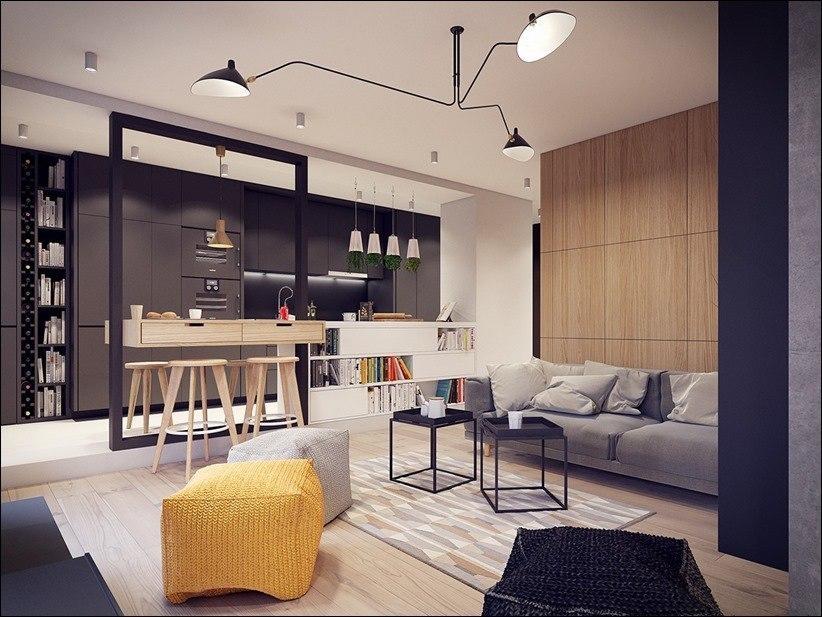 Квартира 60-х с творческой формой и оптимистичным взглядом.