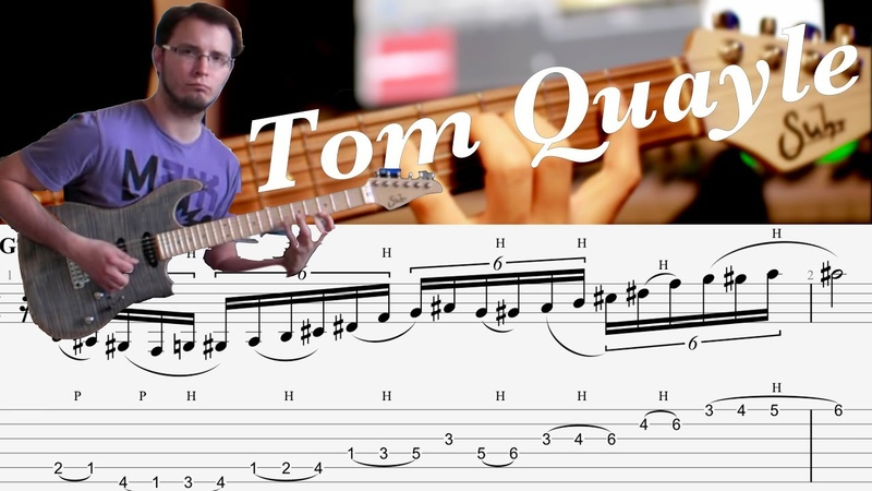 Tom Quayle Jazz Fusion Legato Lick 1 [GUITAR LESSON TV]
