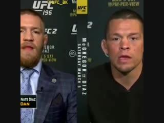 Диалог Конора и Нейта на UFC 196