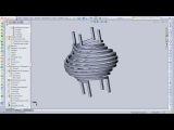 SolidWorks Практическое занятие. Построение по поверхностям.