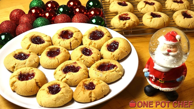 Peanut Butter and Jam (PBJ) Cookies | One Pot Chef
