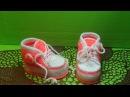 Вязание крючком пинетки-кеды для девочки #154
