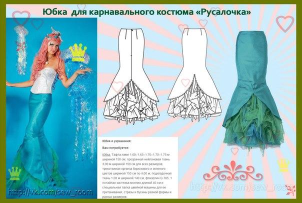 Как сшить костюм русалки своими руками выкройки