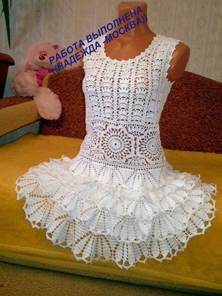 Платье крючком. (7 фото) - картинка