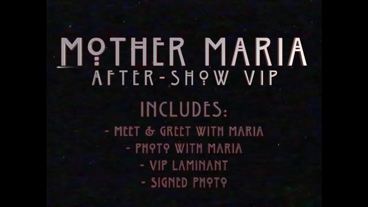 "Maria Brink on Instagram: ""I will be doing a Meet Greet tonight🌙 Ask at merch . They sell out quick so go strait to merch for details 🙏 iloveu"""