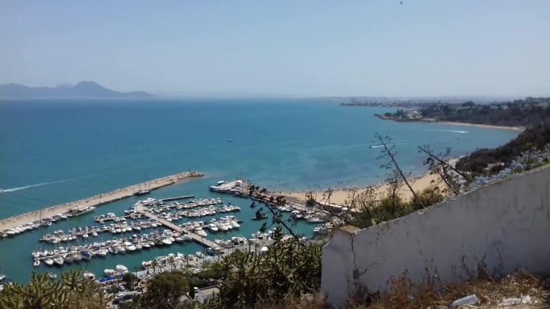 Панорама с берега Карфагена
