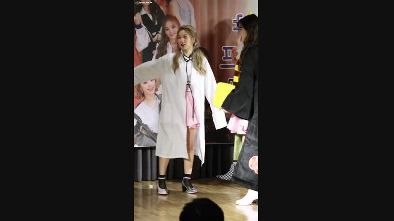 [4K] 181026 프로미스나인 (fromis_9) LOVE BOMB 이서연 세로직캠 Fancam by Syeonny Side Up @ 용산 랜드홀 팬사인회