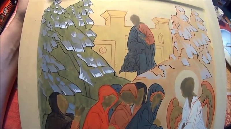 Этап 2. Второй пробел на иконе Жены Мироносицы у Гроба Господня.