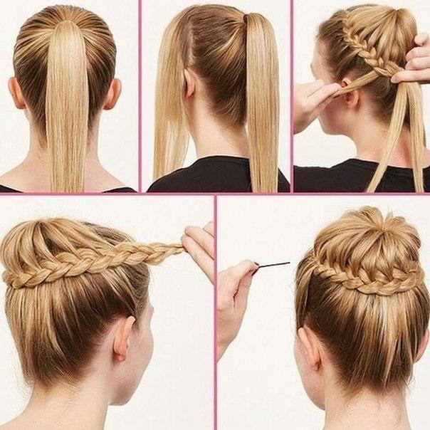 Красивая и простая причёска (1 фото) - картинка