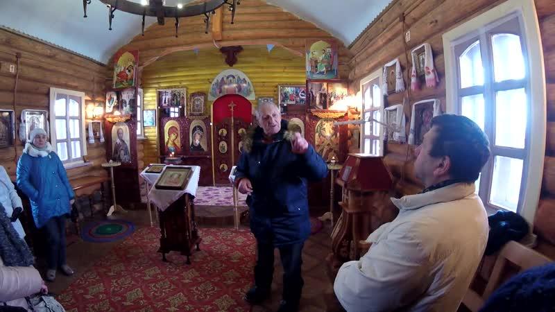 Александр Тихонович Черных рассказывает о строительстве храма Преображения Господня