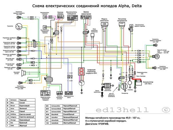 """Схема проводки """"Альфа"""""""