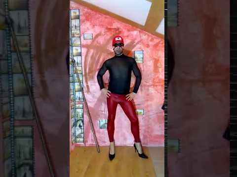 LEGION GIMENEUS, transparent turtleneck fishnet, red leather leggings, black patent pumps 5