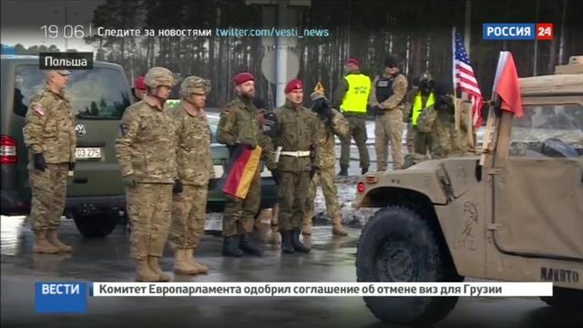 Новости на Россия 24 Американские танки в Польше кому стало легче