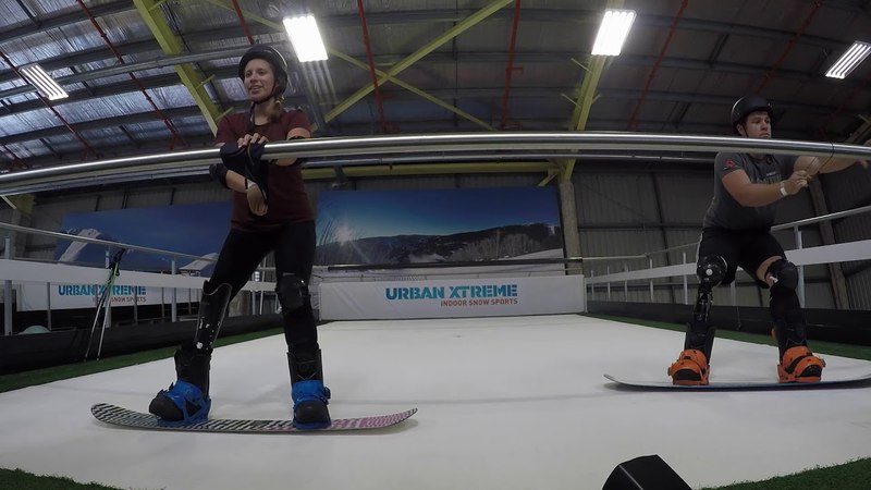 Two Amputees Snowboarding at UrbanXtreme
