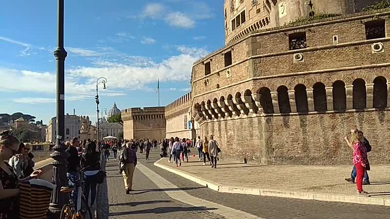 Солнечный день в Риме, музыка на улице