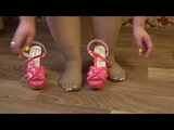 legs bbw 130 kilograms, in nylon pantyhose and high-heeled shoes
