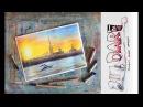 Как нарисовать закат на Неве пастелью! Dari_Art