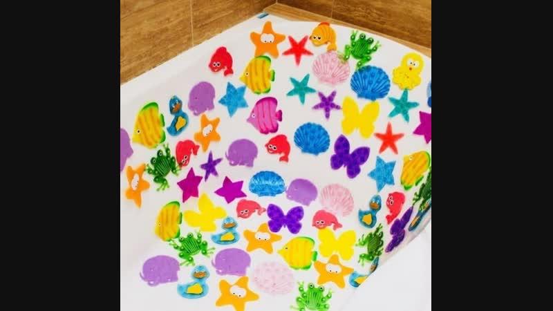 Вот такие яркие и интересные ванны у малышей