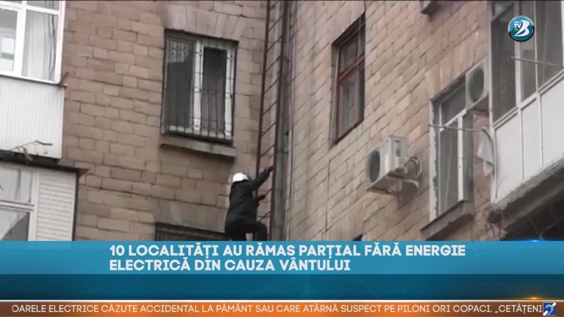 10 LOCALITĂȚI AU RĂMAS PARȚIAL FĂRĂ ENERGIE ELECTRICĂ DIN CAUZA VÂNTULUI