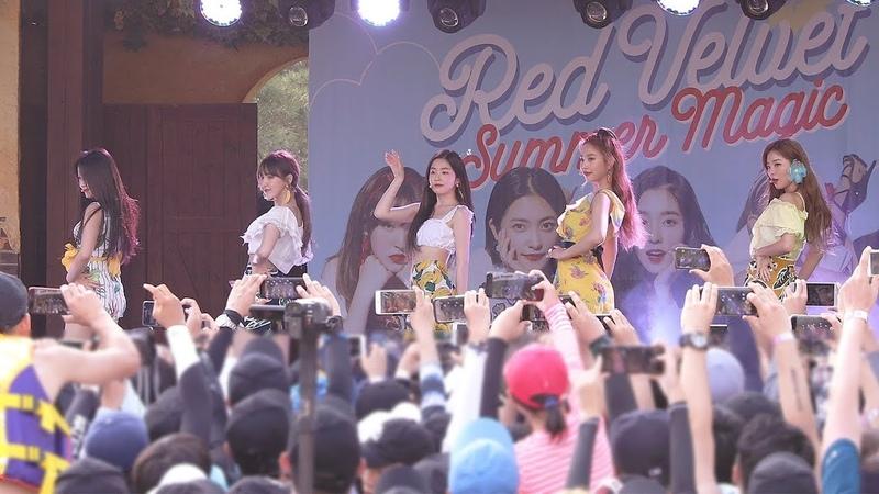 180812 레드벨벳 Red Velvet Power Up Red Flavor 빨간 맛 Ending Ment 멘트 캐리비안베이팬사인회 4K 직캠 by 비 4780