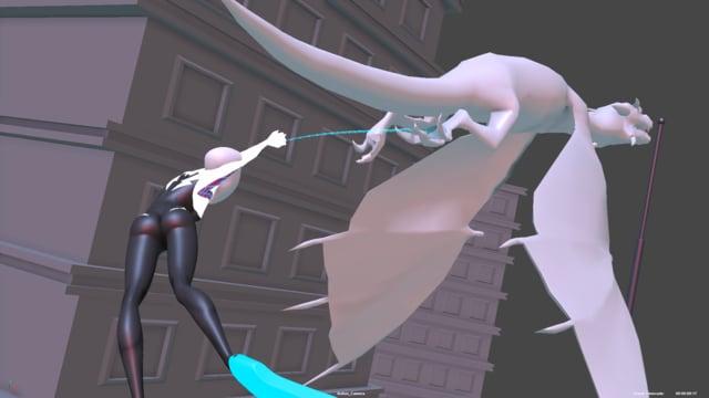 Gwen Stacy vs dragon