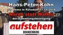 Hans Peter Köhn zur Demo in Pdm 17 11 2018