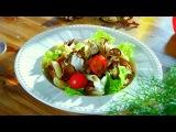 Два с половиной повара. Открытая кухня. Выпуск 23:  французский запеченный куриный паштет, салат с пастой и чипсами из баклажанов и кофе с медом и халвой.