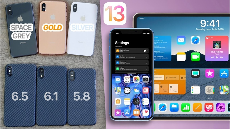 2018 iPhones All Colors Kevlar Cases! iOS 13 Concepts To Die For