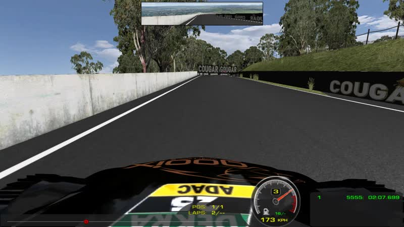 My first laps at bathurst on hwa1 team dtm car
