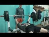 Жим 95 кг на 3 повторения. Мельник Михаил. 3.01.2018 г.