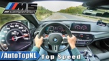 BMW M5 F90 COMPETITION 625HP AUTOBAHN POV 309kmh TOP SPEED by AutoTopNL