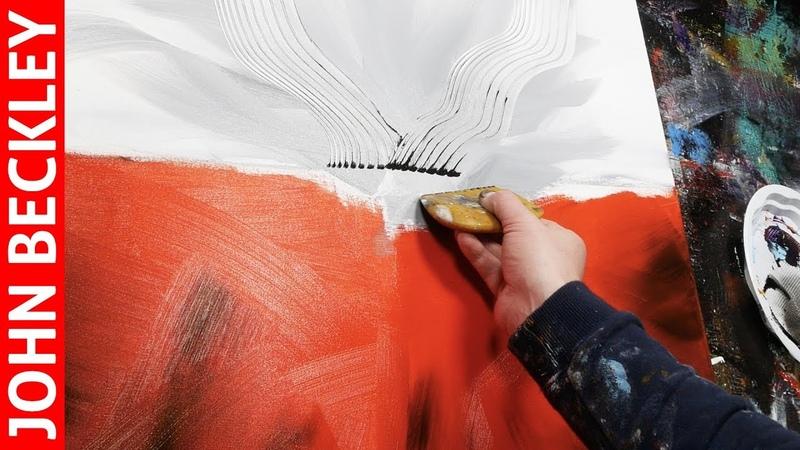 Peinture Abstraite - Démonstration Art Abstrait À l'Acrylique | Calix