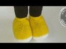 Микки Маус крючком (урок 7, ботинки)