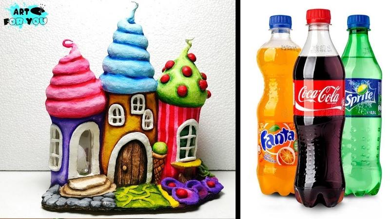 DIY Fairy House Lamp Using Plastic Bottles | How To Make Fairy House DIY