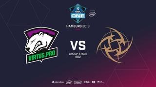 Virtus.pro vs Ninjas In Pyjamas - Game 1, Group B - ESL One Hamburg 2018