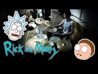 Rick and Morty - Intro drum cover/Рик и Морти - Интро драм кавер
