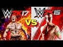 WWE 2K17 Finishers VS WWE 2K15 Finishers Comparison😍👏 WHO IS THE BEST😍👏