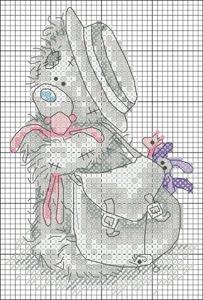 Мишек Тедди схемы вышивки