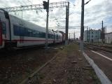 ЭП20-031 с скоростным поездом 13 СТРИЖ Москва-Берлин проследует станцию Вязьма