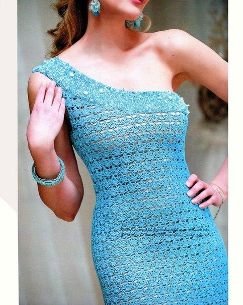 Коктейльное платье крючком (4 фото) - картинка