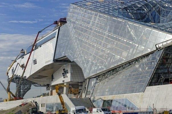 Строительство Музея Слияния (Musee Des Confluences)
