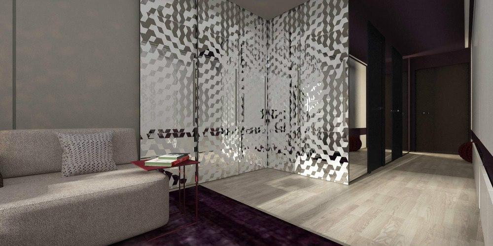 Концепт квартиры 30 м с присоединенным балконом, работа студии ART Studio Design & Construction, Санкт-Петербург.