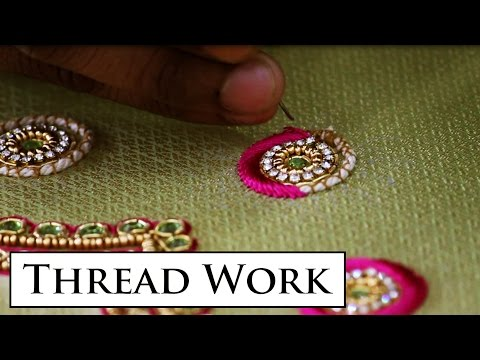 Embossed Thread Work Making HD Video Indian Hand Embroidery