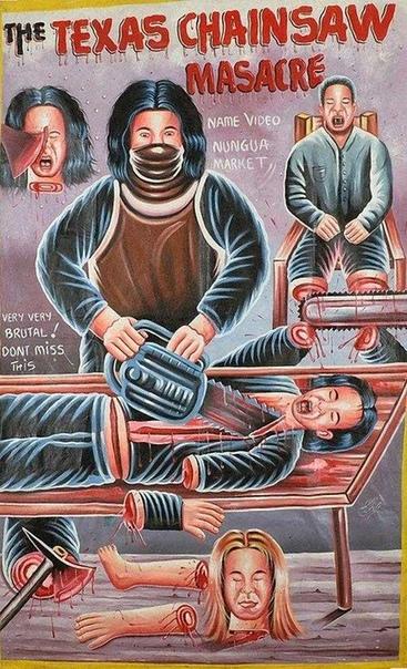 Кинопостеры Ганы Постеры Ганы — это отдельное искусство, самобытное и ужасно смешное. В этой стране сложилась собственная школа рисования кинопостеров: никто из художников, кажется, даже не